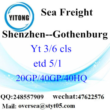 Shenzhen Port Sea Freight Shipping to Gothenburg