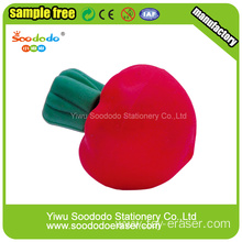 Radish childrens rubber Eraser,internation eraser