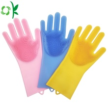 Silicone Washing Cleaning Brush Gloves Dishwashing Glvoes