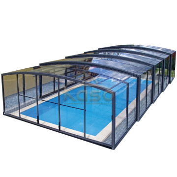 10 Years for Polycarbonate Swimming Pool Enclosures Waterproof Enclosure Transparent Swimming Pool Cover export to Liechtenstein Manufacturers