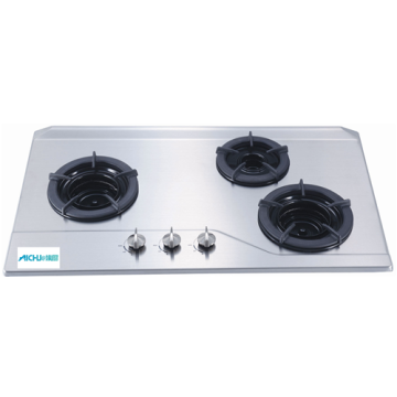 Inner 3-Burner Built-in Gas Hob Stainless Steel