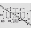 Female BSPP Tee Male BSPT Stud Connector Fitting