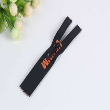 Well-made printed letters waterproof zipper for luggage