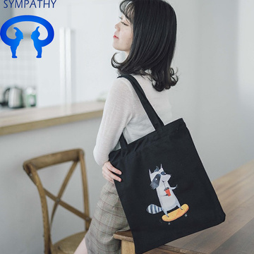 Customized art bag simple single shoulder shopping bag