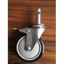 4 inch stem casters with pu wheels