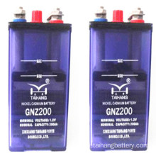 1.2v medium discharge rate NICD battery 200ah