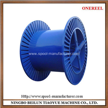 Corrugated bobbin for wire rope spool