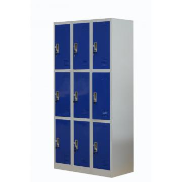 Office school worker use steel locker with lock