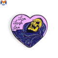 Wholesale custom enamel pin with glitter