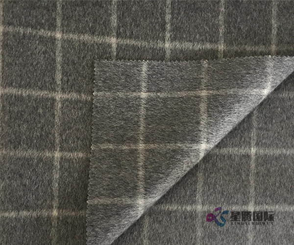 Both Sides Of 100% Wool Fabric Plaid