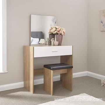 Mirror Bedroom Furniture Wood Vanity Makeup Table