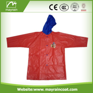 Red Color PVC Kids Raincoat