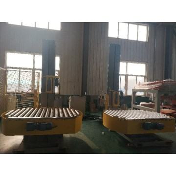 Automatic on-line pallet turntable wrapping machine