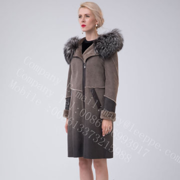 Short Women Spain Merino Shearling Thick Coats
