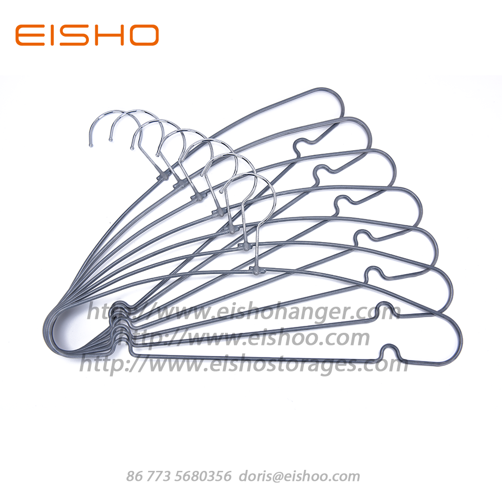 Eisho Pvc Coated Anti Slip Metal Hangers