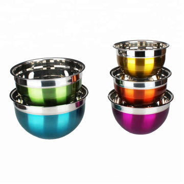 5 Piece Color Painting Mixing Bowls With Lids