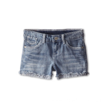 Soft Cotton Double Denim Ruffled Shorts for Children