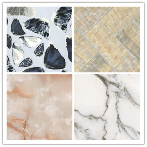 High reputation for 3D Marble Wall Panel Decoration  materials pvc 3D wall sheet export to Qatar Supplier