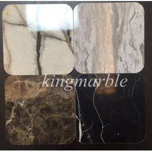 Low Cost for Uv Pvc Marble Wall Panel Marble design bathroom wall panels supply to Suriname Supplier