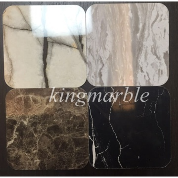 Marble design bathroom wall panels