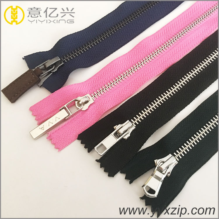 double way metal zipper