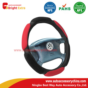 One of Hottest for for Custom Steering Wheel Covers Steering Wheel Cover Black Red Comfort Grip export to Costa Rica Exporter