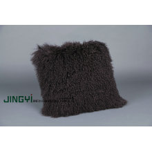 Factory directly supply for Mongolian Wool Pillow Fur Black  Mongolian Fur Pillow export to Australia Factories