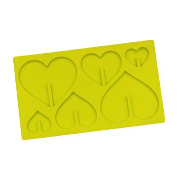6 Packs Cavities Heart Shaped Silicone Mold