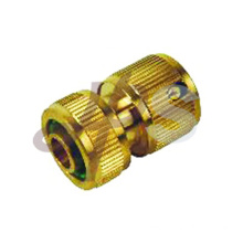 Brass garden hose connector