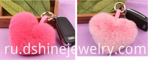 Rex Rabbit Fur Ball Key Chain