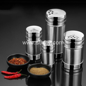 Stainless Steel  Barbecue Porous Rotating Seasoning Jar
