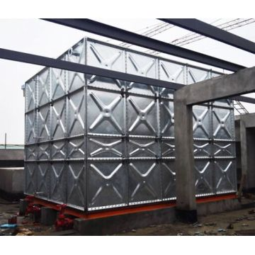 Industrial galvanized steel fire fighting water storage tank
