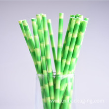 Green and white straws for sales