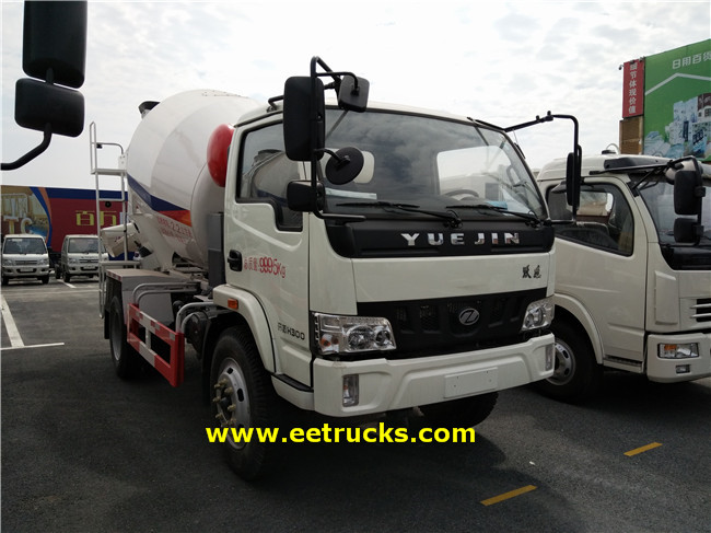2500L Concrete Mixing Transport Trucks