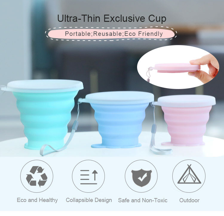 High Quality Reusable Silicone Coffee Cup