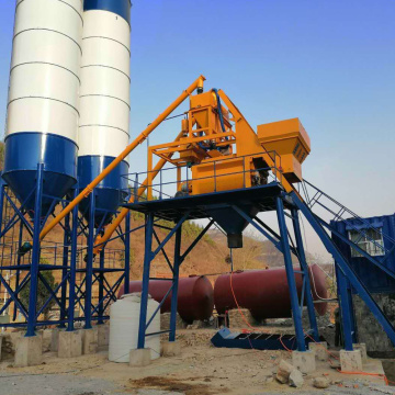 Central control 75 m3 concrete batching plant