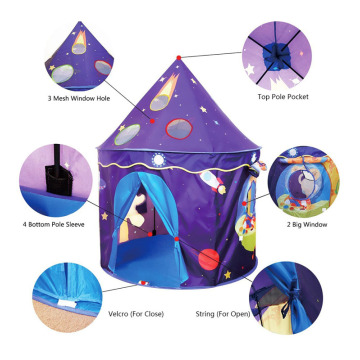 Castle children small foldable house teepee kids tent