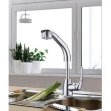 Good Quality for Pull Out Kitchen Faucet Kitchen Tap Pull Out Faucet With Chrome Plating export to Italy Factories