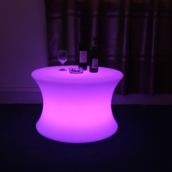 Modern Plastic Led Round Table