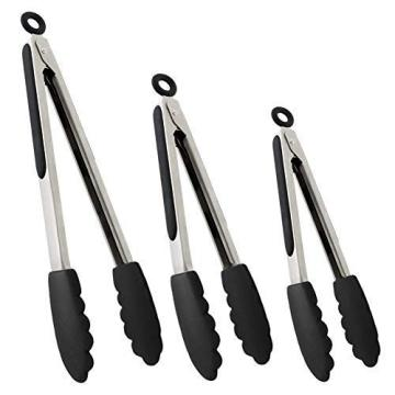 Set of Kitchen Tongs for Cooking or Grilling