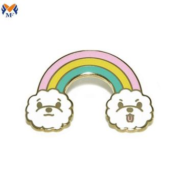 Custom hard enamel rainbow pin