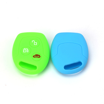 3 knappar Silicone Remote Car Key Cover