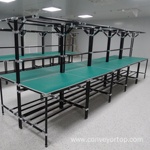 OEM manufacturer custom for Lean Pipe Work Table Assembly Table with Lean Pipe Frame supply to Portugal Supplier