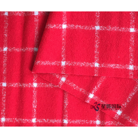 Windowpane Check Pattern Double Face Woolen Fabric