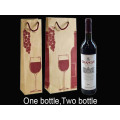 Cotton Handle Kraft Red Wine Gift Bag