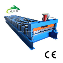 Metal roof sheeting machine