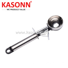 Premium Stainless Steel Ice Cream Dipper with Trigger