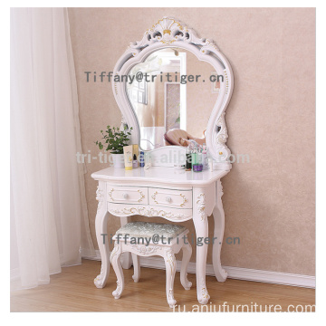 Factory wood dresser makeup dresser with mirror