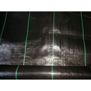 Schwarze Farbe PP Woven Weed Mat