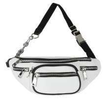 Women Travel White Leather Fanny Packs Belt Bags